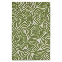 "Liora Manne Block Print 7'6"" X 9'6"" Tufted Area Rug in Green"