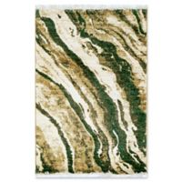 "Liora Manne Dunes 1'11"" X 2'11"" Powerloomed Area Rug in Green"