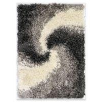"""Liora Manne Spiral 1'11"""" X 2'11"""" Powerloomed Area Rug in Grey"""