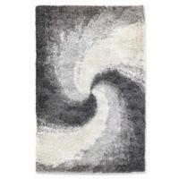"""Liora Manne Spiral 4'10"""" X 7'6"""" Powerloomed Area Rug in Grey"""