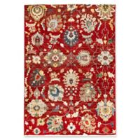 "Liora Manne Vintage Floral 1'11"" X 2'11"" Powerloomed Area Rug in Red"