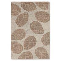 "Liora Manne Leaf Desert 3'6"" X 5'6"" Tufted Area Rug in Khaki"