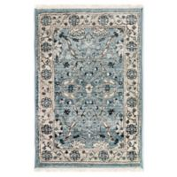 "Liora Manne Oushak 1'11"" X 2'11"" Powerloomed Area Rug in Blue"