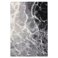 "Liora Manne Water 8'3"" X 11'6"" Tufted Area Rug in Black"