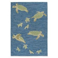 """Liora Manne Seaturtles Water 8'3"""" X 11'6"""" Tufted Area Rug in Blue"""