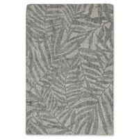 "Liora Manne Olive Branches Flannel 3'6"" X 5'6"" Tufted Area Rug in Grey"