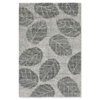 "Liora Manne Leaf Flannel 3'6"" X 5'6"" Tufted Area Rug in Grey"