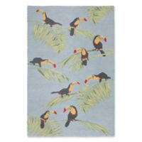 "Liora Manne Toucans 8'3"" X 11'6"" Tufted Area Rug in Blue"