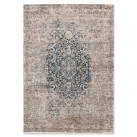 "Liora Manne Medallion 8'3"" X 11'6"" Powerloomed Area Rug in Blue"