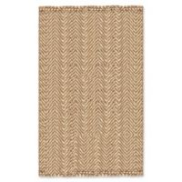 "Liora Manne Chevron 8'3"" X 11'6"" Woven Area Rug in Natural"