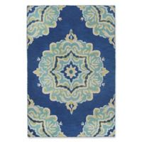 "Liora Manne Medallion 8'3"" X 11'6"" Tufted Area Rug in Navy"