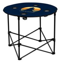"""""""Life is Good"""" Portable Round Table in Navy"""
