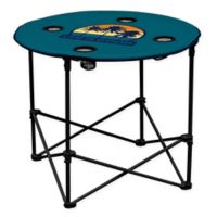 """""""Life is Good"""" Portable Round Table in Aqua"""