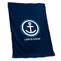 Life is Good Outdoors Sweatshirt Blanket in Navy