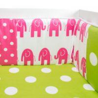Glenna Jean Ellie & Stretch Crib Bumper in Pink/Green