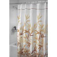 iDesign® Anzu 72-Inch x 84-Inch Shower Curtain in Brown
