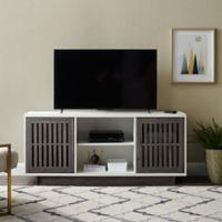 Forest Gate 56-Inch Modern Slat Door TV Storage Console
