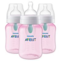 Philips Avent 3-Pack 9 fl. oz. Anti-Colic Baby Bottles with Insert in Pink