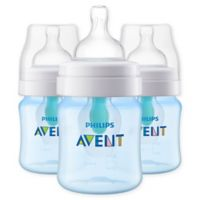 Philips Avent 3-Pack 4 fl. oz. Anti-Colic Wide-Neck Bottles with Insert in Blue