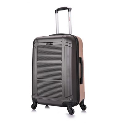 b03c547ff7d7 InUSA Pilot 24-Inch Hardside Spinner Checked Luggage in Charcoal/Champagne