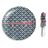 Vera Bradley Stars Cheese Plate and Spreader Set in Navy