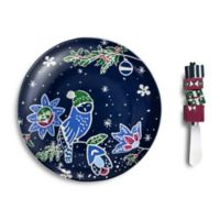 Vera Bradley® Festive Owl Cheese Tray with Spreader
