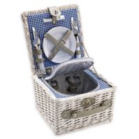 Over and Back® Whitney Picnic Basket For 2 in White