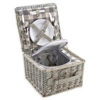 Over and Back® Whitney Picnic Basket For 2 in Grey