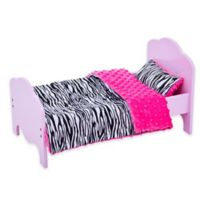 Olivia's Little World 18-Inch Doll Bed with Hot Pink Bedding