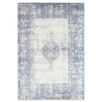 Rugs America Zyra Vintage 5'1 x 7' Power-Loomed Indoor/Outdoor Area Rug in Light Blue