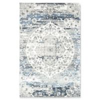 "Rugs America Maxwell 5'1"" X 7' Powerloomed Area Rug in Cream"