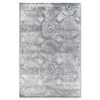 Rugs America Maxwell Vintage 5'1 x 7' Power-Loomed Area Rug in Silver