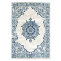 "Rugs America Assent 5'1"" X 7' Powerloomed Area Rug in Blue"