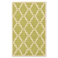 ECARPETGALLERY Marrakech 5' X 8' Woven Area Rug in Cream/green