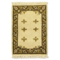 ECARPETGALLERY Karma 2' X 3' Hand-Knotted Area Rug in Cream