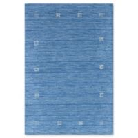 ECARPETGALLERY One of a Kind Luribaft Gabbeh Riz 4' x 5'11 Area Rug in Sky Blue