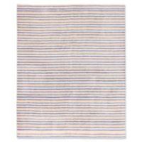ECARPETGALLERY Luribaft Gabbeh Riz 8' x 9'10 Hand Knotted Area Rug in Dark Blue/Pink