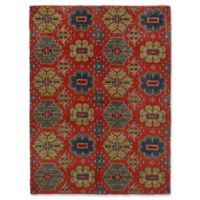 "ECARPETGALLERY Mystique 6'1"" X 9' Hand-Knotted Area Rug in Red"