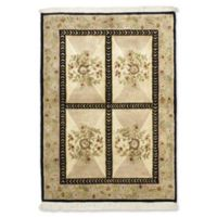 """ECARPETGALLERY Opulence 4' X 5'10"""" Hand-Knotted Area Rug in Ivory"""