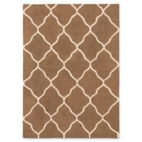 ECARPETGALLERY One of a Kind Trellis 4'11 x 6'11 Hand-Tufted Area Rug in Brown/Ivory