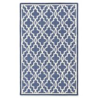 ECARPETGALLERY Trellis 5' X 8' Tufted Area Rug in Cream/violet