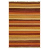 "ECARPETGALLERY Fiesta 5'7"" X 7'10"" Flat-weave Area Rug in Dark Red"