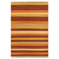 "ECARPETGALLERY Fiesta 5'7"" X 7'10"" Flat-weave Area Rug in Dark Orange"