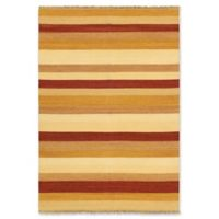 "ECARPETGALLERY Fiesta 5'7"" X 7'10"" Flat-weave Area Rug in Orange/ivory"