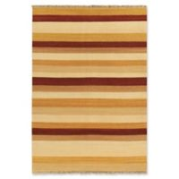 "ECARPETGALLERY Fiesta 5'7"" X 7'10"" Flat-weave Area Rug in Orange"