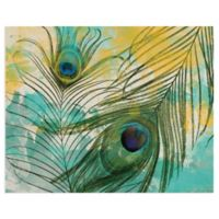Masterpiece Art Gallery Painted Peacock 16-Inch x 20-Inch Canvas Wall Art