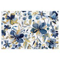 Masterpiece Art Gallery Golden Indigo Garden 18-Inch x 24-Inch Canvas Wall Art