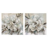 Masterpiece Art Gallery 2-Piece Neutral Bloom I & II 24-Inch Square Canvas Wall Art