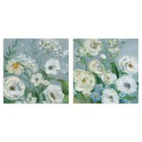 Painterly Garden I & II 24-Inch x 24-Inch Wrapped Canvas Wall Art (Set of 2)