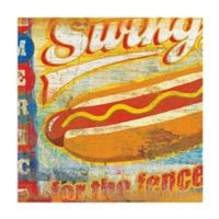 Masterpiece Art Gallery Swing for the Fences 24-Inch x 24-Inch Wall Art
